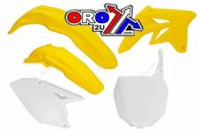 New RMZ 250 07-09 Racetech Plastic Kit Motocross Plastics OEM Yellow RMZ250